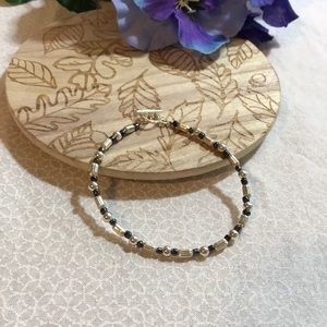 Jewelry - 3 for $25 Petite silver beaded bracelet